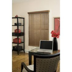 Richfield Studio 2.5 inch Faux Wood Blind, Maple, 64 inch Length, Brown