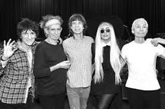 lady gaga with her boys ( the rolling stones )