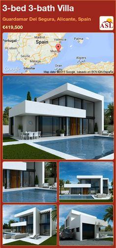 3-bed 3-bath Villa in Guardamar Del Segura, Alicante, Spain ►€419,500 #PropertyForSaleInSpain