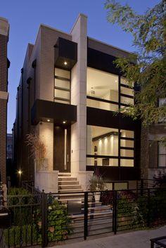 Modern Exterior by Environs Development Design Group Townhouse Exterior, Modern Townhouse, Townhouse Designs, Architecture Design, Residential Architecture, Contemporary Garden, Contemporary Interior, Contemporary Stairs, Contemporary Building
