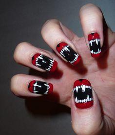 Vampire Nails - via Bigmouth Strikes Again.