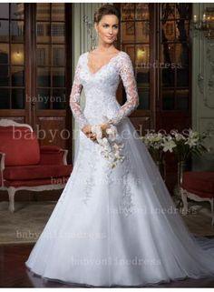 2015 Winter Long Sleeve Backless Detachable Train White Beaded Lace Wedding  Dresses Custom Made Size 4 6 8 10 12 14 02e2843ef372