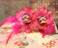 Big Kiss Muppet Frog crystal Star Rockabilly by SideShowCouture, $5.00