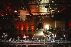 indoor receptions - photo by Lang Photographers http://ruffledblog.com/phoenix-icehouse-wedding