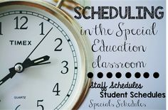 Scheduling in the Special Education classroom can be such a headache.  This is my tried and true method.