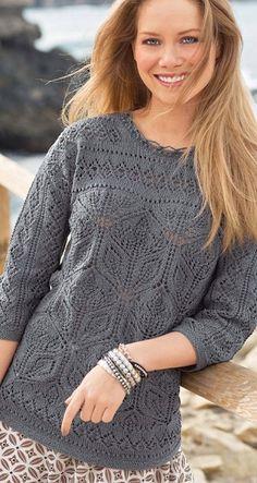 Великолепный пуловер спицами