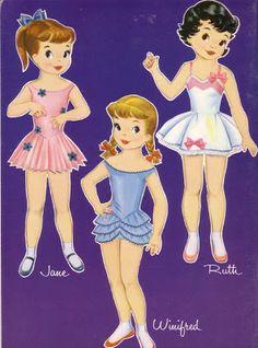 Paper Dolls: turminha Dollies Go to School