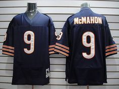 Mitchell & Ness Bears #9 Jim McMahon Blue Stitched Throwback NFL Jersey  $19.50
