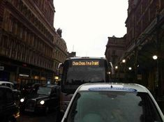 Go home, bus. You're drunk.