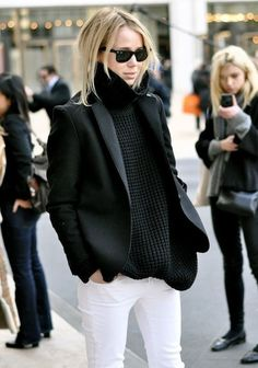 Get inspired by these street style stars and bloggers... There's no denying that a black and white look is one of our favorite go-tos no matter what the season. For some fresh inspiration on how to wear the the color combo this winter, we turned to some of our favorite street style stars and bloggers like Elin Kling and Vanessa Hong. Scroll through to see the inspiring black and white looks... via @WhoWhatWear