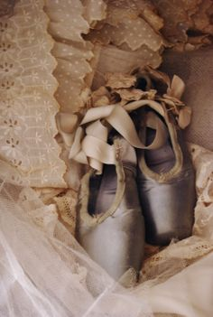 Weathered ballet shoes