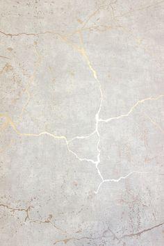 Tapete fürs Wohnzimmer.         Kintsugi Optik Tapete 104870 beige grau rose gold metallic