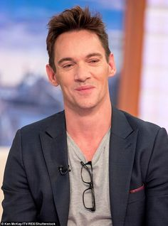 Melting hearts: Jonathan Rhys Meyers' son Wolf stole the show on Friday's Good Morning Britain, when he excitedly explored the set during the actor's interview