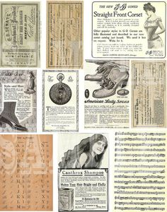 ADORABLE VINTAGE ADD--CREATIVE COLLAGE