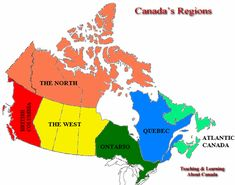 Map Of Canada With Provincial Capitals Labeled Teaching EAL - Geography map of canada