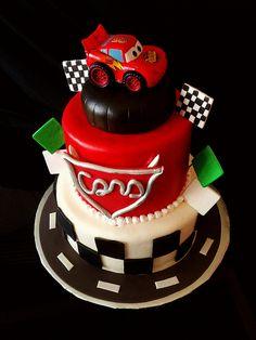 Cars theme birthday cake by mild too wild cakes, via Flickr