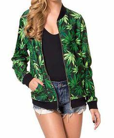4cf3b1b4ca84c weed clothing - Google Search Green Coat, Green Leaves, Cannabis, Bongs,  Weed