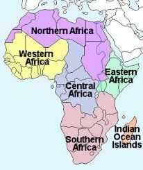 Image result for regions of africa map