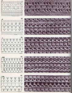 Tutorial: Crochet chart reading Explained nicely for a beginner.Discover thousands of images about Tutorial: Crochet chart readingCROCHET - Lovely Feminine Wide Boarder Lattice Stitch Pattern (Asian Pattern, Found on Russian Website (allmyhobby. Filet Crochet, Crochet Stitches Chart, Crochet Diagram, Knitting Stitches, Crochet Lace, Tutorial Crochet, Crochet Baby Dress Pattern, Crochet Motif Patterns, Knitting Patterns