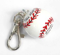 Personalized BASEBALL Charm for Bag   Backpack   by VeronicasArts, $7.50