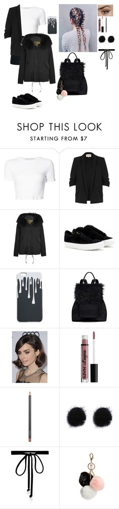 """""""Work"""" by eviefrye ❤ liked on Polyvore featuring Rosetta Getty, River Island, Mr & Mrs Italy, Salvatore Ferragamo, Elizabeth and James, COS, NYX, MAC Cosmetics, Joomi Lim and GUESS"""