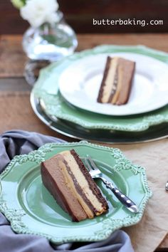 Caramel and hazelnut chocolate crunch gateau