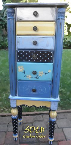 Jewelry Armoire hand painted Paris chic with by accentbydesign, $295.00