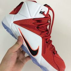 finest selection 19d9d b17a8 Another look at the Nike LeBron 12 LION HEART, release date set for  Halloween day. The Cavs-matching kicks sport a red mesh upper overlaid by  white .