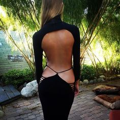 Beautifully designed open back #adamsaaks #dress