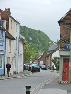 Lewes, East Sussex, England ~ looking down South Street and out to the hills...ahhhh!