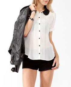 I got this top!! <3 I love it because it's different and it gives a tux kind of look to it :)