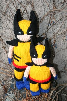 Hey, I found this really awesome Etsy listing at https://www.etsy.com/listing/172494380/hand-knit-wolverine-13-inches-to-top-of