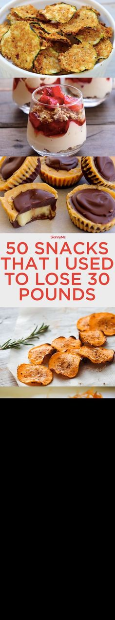 Some i already use, some that i want to try, none that I'll buy. 50 Snacks That I Used to Lose 30 Pounds