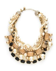 statement necklace. chunkiness pairs well with delicate slip and grungy sweater.