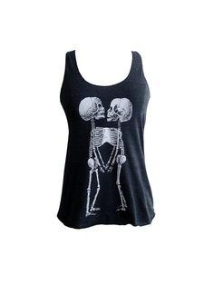 Skeleton Tank Top   Skeletal Siamese Twins printed by friendlyoak, $18.00