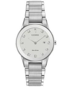 001cd6da202 Citizen Women s Eco-Drive Axiom Diamond Accent Stainless Steel Bracelet  Watch 30mm GA1050-51B   Reviews - Watches - Jewelry   Watches - Macy s