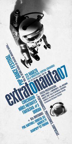 Extratonauta 2007. Extratonauta festival (festival pop music) design by perrroraro
