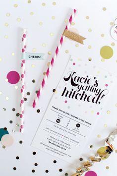 Confetti Popper Bridal Shower Invite