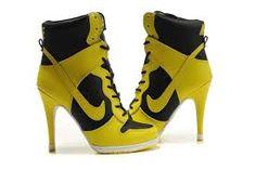 Black and yellow Nike heels