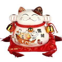 Chat qui invite, ou maneki neko au japon, symbole de fortune