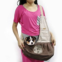 Pet Sling Carrier PYRUS Dog Sling Bag Shoulder Carry Bag with Extra Pocket for Cat Dog Puppy Kitty Rabbit Small Animals  Brown  >>> Check out this great product. This is an Amazon Affiliate links.