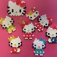 Lots of #hellokitty #aquabeads!