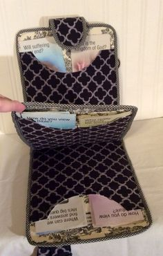 Vertical 8 Tract/Magazine Tote with by DesignsByLizzieLeeG on Etsy