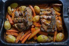 Friptura de porc la cuptor - marinata cu iaurt si usturoi | Savori Urbane Pot Roast, Bacon, Cooking, Ethnic Recipes, Fine Dining, Pork, Carne Asada, Kitchen, Roast Beef