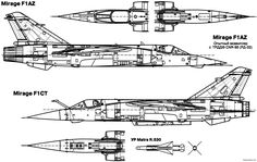 dassault mirage f1 7    - BlueprintBox.com - Free Plans and Blueprints of Cars, Trailers, Ships, Airplanes, Jets, Scifi and more...