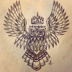 Owl design drawing