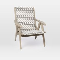 """Globalist Lounge Chair, Weathered Gray 30.5""""w x 28""""d x 34""""h."""