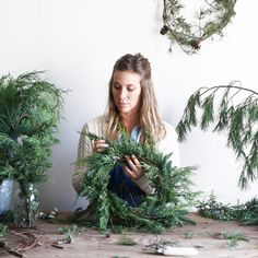 My favorite flower girl, Amy Merrick, just opened a little shop  where you can pick up some of her beautiful holiday decorations ...