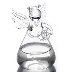 Praying Angel Vases Crystal Transparent Glass Vase Flower Containers