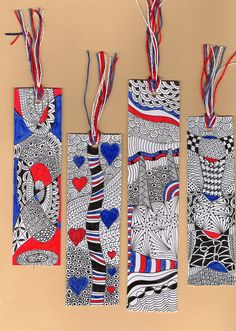 Bookmarks - great idea for zentangles!